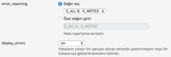 Plesk PHP Display Error On
