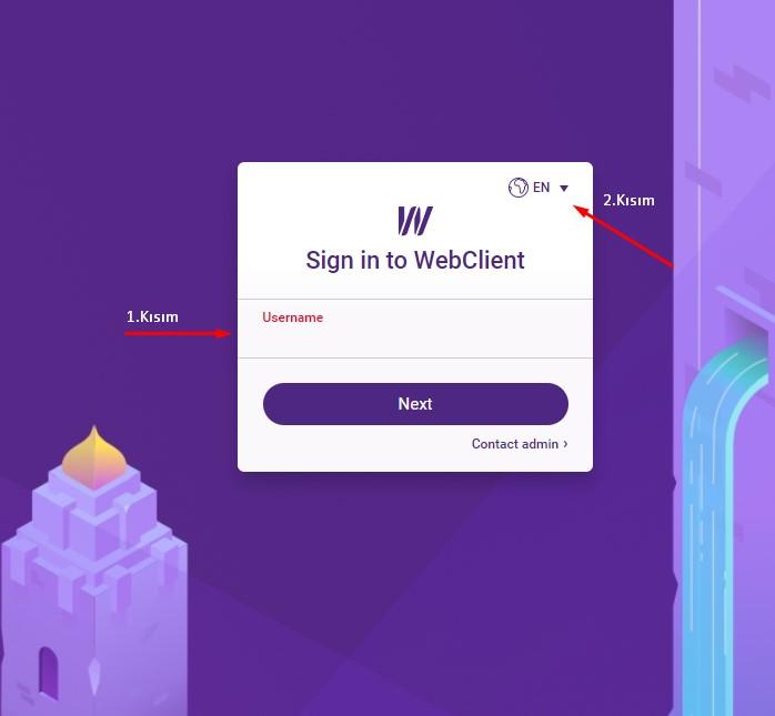 icewarp giriş ekranı
