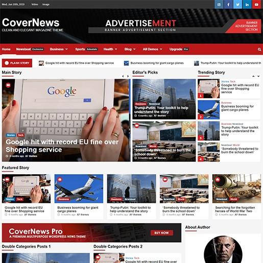 en iyi ücretsiz wordpress teması covernews