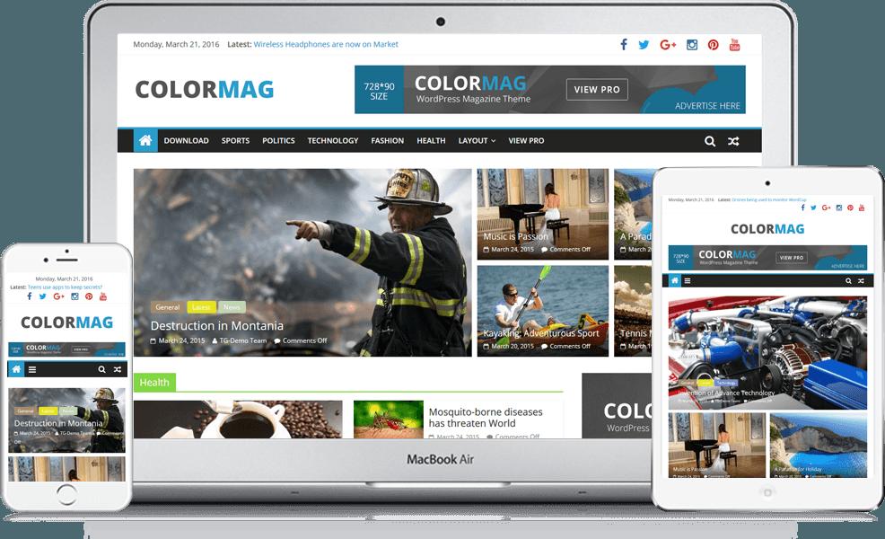 en kullanışlı ücretsiz wordpress blog temaları color mag