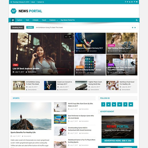 en iyi ücretsiz wordpress teması news portal