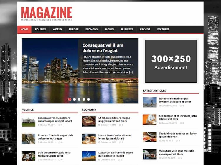 en iyi ücretsiz wordpress teması mh magazine