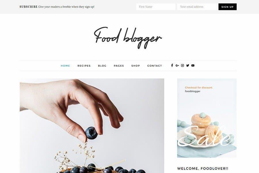 wordpress yemek teması food blogger