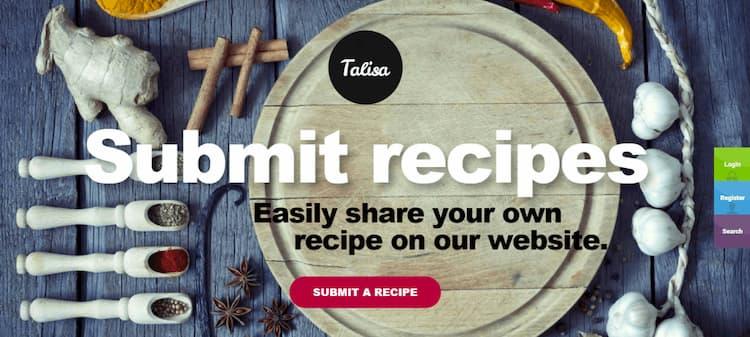 wordpress yemek teması talisa