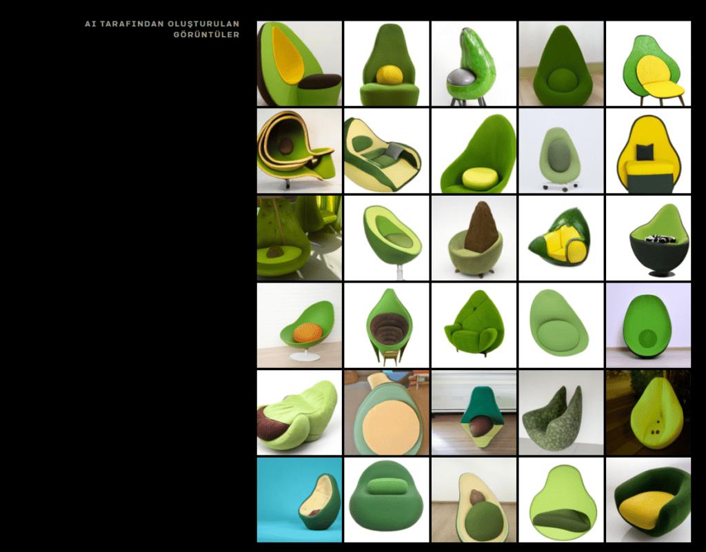 Yapay Zeka tarafından oluşturulan görüntüler.