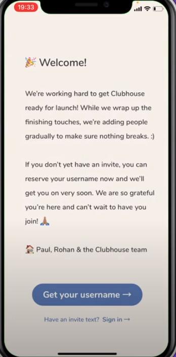 Clubhouse Kulanıcı Adı Seçin