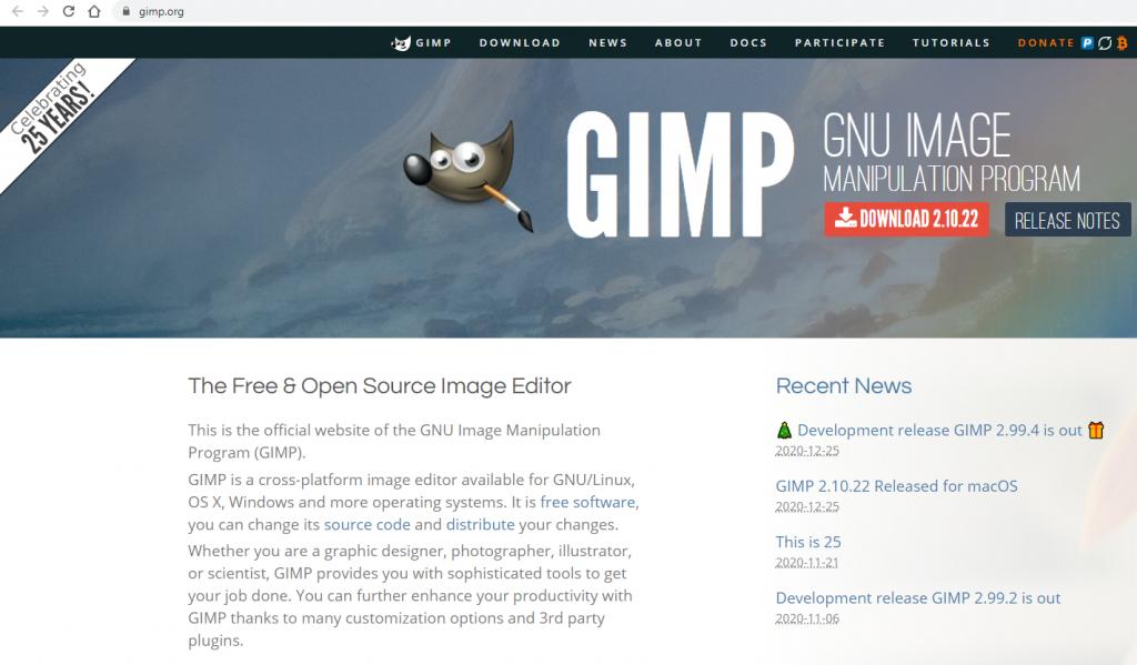 gimp fotoğraf işleme programı