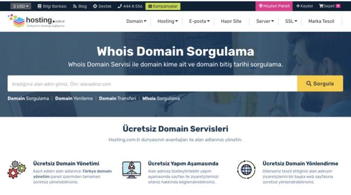 Whois Domain Sorgulama